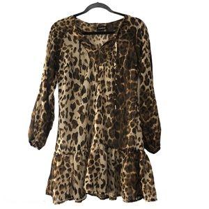 Bebe Cheetah Print Tunic / Dress Size Small